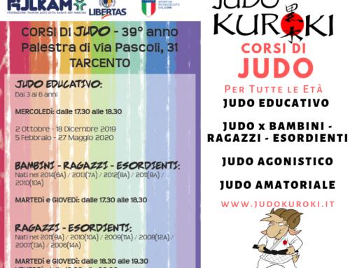 Corsi di judo a Tarcento Stagione 2019/2020